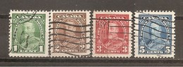 Canada. Nº Yvert  179-81, 183 (usado) (o) - 1911-1935 Reinado De George V