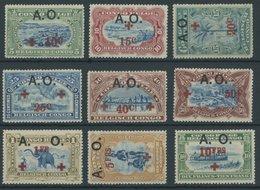 RUANDA-URUNDI 25-33 *, Belgische Besetzung Von Deutsch-Ostafrika: 1918, Afrique Orientale, Falzrest, übliche Gummierung, - 1916-22: Mint/hinged