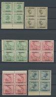 RUANDA-URUNDI 23-30 VB **, 1927, Freimarken In Viererblocks, Postfrisch, Fast Nur Pracht - 1916-22: Mint/hinged