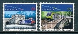 SCHWEIZ Mi. Nr. 1952-1953 100 Jahre Simplontunnel Und Lötschbergbahn - Used - Gebraucht