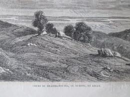 Gravure 1864   PAGODE JAGERNAT PONDICHERY  PROCESSION ELEPHANT   Cours Brahma Poutra  Duhong  ASSAM INDE - Alte Papiere