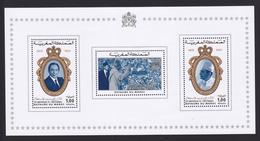 MAROC BLOC N°    9 ** MNH Neuf Sans Charnière, TB (CLR411) Anniversaire De L'indépendance - 1975 - Morocco (1956-...)
