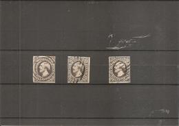 Luxembourg ( 1 - 3 Exemplaires Margés- Oblitérés) - 1852 William III