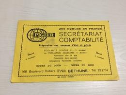 BUVARD Ancien PIGIER SECRÉTARIAT COMPTABILITÉ BETHUNE - Unclassified