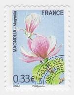 France Service Préo Preoblitéré Fleur Magnolia Verte  0,33€  Année 2008 YT N° 258 - Vendu à La Faciale - Face Value - Mint/Hinged