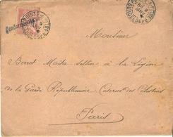 GUADELOUPE Franchise Militaire Avec Cachet GENDARMERIE NATIONALE Cote MAURY: 320€ - Guadalupe (1884-1947)