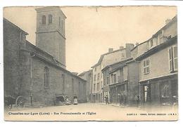 CHAZELLES SUR LYON - Rue Processionnelle Et L'Eglise - Unclassified