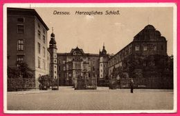 Dessau - Herzogliches Schloss - Animée - 1916 - Oblit. DESSAU 20.9.16 *1 - Dessau