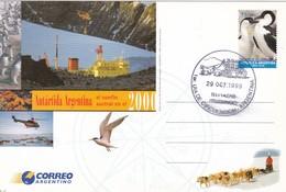 ANTARTIDA ARGENTINA, EL CONFIN AUSTRAL. FDC 1999 ITUZAINGO. ENTIER ENTERO POSTAL. L'ARGENTINE - BLEUP - Philatélie Polaire