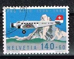 Schweiz 1988, Michel# 1369 O 50 Jahre Stiftung Pro Aero - Gebraucht