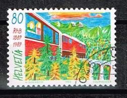 Schweiz 1989, Michel# 1388 O Rhätische Bahn - Gebruikt