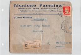 11103 FAENZA RIUNIONE FAENTINA FABBRICA CICLI ASTOR SUPERGA SPIGA X SANT ALBERTO - GOMME PIRELLI - 1900-44 Victor Emmanuel III