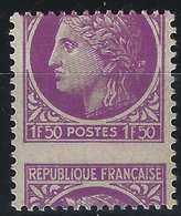 FRANCE Ceres De Mazelin 1945 N°679**, 1fr50 Variété Piquage Très à Cheval Rare Ainsi...signé Calves - 1945-47 Cérès De Mazelin