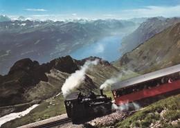 Postcard Steam Train Brienz Rothorn Bahn Switzerland  My Ref  B23266 - Trains