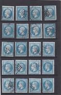 FRANCE CLASSIQUES N° 22 NAPOLEON III + N°29B NAPOLEON III LAURE Pour Etude Nuance Et Planchage  - REF 14616 / LOT DE 20 - 1863-1870 Napoleon III With Laurels