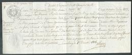 Acte Notarié Avec Cachet Fiscal Franco 50 Cents. à  Luxembourg 1806 - Traité D'adjudication De Bois Sis à Steinsel Pour - Luxembourg