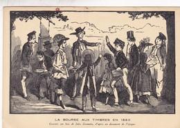 LA BORSE AUX TIMBRES. EXPOSITION PHILATELIQUE L'ART DANS LE TIMBRE, HANNEQUIN L.-AN 1941 PARIS-TIMBRE BLOC - BLEUP - Francobolli (rappresentazioni)