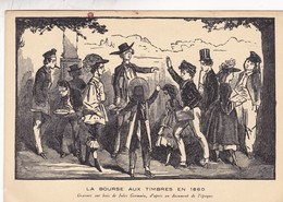 LA BORSE AUX TIMBRES. EXPOSITION PHILATELIQUE L'ART DANS LE TIMBRE, HANNEQUIN L.-AN 1941 PARIS-TIMBRE BLOC - BLEUP - Sellos (representaciones)