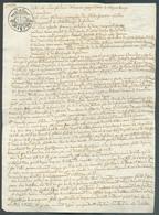 Acte Notarié Avec Cachet Fiscal Franco 2/5. à  Luxembourg 1819 - Accord Financier Entre Parties Neuman (Luxembourg) Et B - Luxembourg