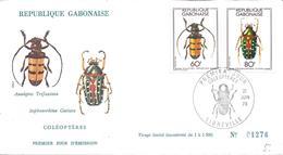 FDC LIBREVILLE 21 Juin 1978 Coléoptères  Insecte Animal - Gabon (1960-...)