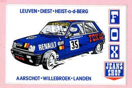 Sticker - FOX - JEANS SHOP - Leuven-Diest-Heist-o-d-Berg-Aarschot-Willebroek-Landen - Renault 5 - ELF - Autocollants