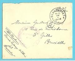 Brief Stempel BRASSCHAET Op 28/5/19 Met Stempel SERVICE DE REPERAGE D'ARTILLERIE / ARMEE BELGE - Postmark Collection