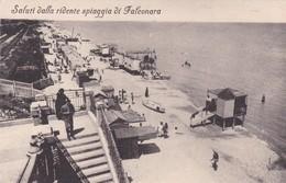 SALUTTI DALLA RIDENTE SPIAGGIA DI FALCONARA MARITTIMA. CPA N°2163. E&B. CIRCA 1915s. NON CIRCULEE-TBE- BLEUP - Ancona