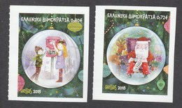 Greece 2018 Christmas Self Adhesive Stamps From Both Booklets - Nuevos