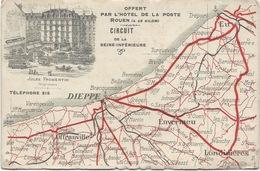 Grand Prix ACF 1907 - Plan Du Circuit De La Seine Inférieure -Hôtel De La Poste à Rouen- Jules Fromentin - Motorsport