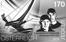 Austria 2018 - Sport Und Wasser Black Proof Mnh - 1945-.... 2ª República