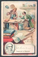 Chromo Chocolaterie D'Aiguebelle  Signature De Berzelius  Le Laboratoire  7 X 11 Cm - Aiguebelle
