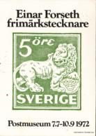 Sweden 5o Heraldic Lion Einar Forseth Exhibition Postal Museum Franked Sc #935 - Timbres (représentations)