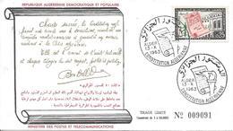 FDC ALger 13 X 1963 Constitution Algérienne Politique Indépendance - Algeria (1962-...)