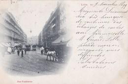 CPA  : Précurseur Lille (59) Voyagée 1899  Rue Faidherbe Tram à Chevaux - Lille