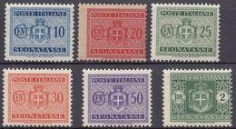 ITALIA - 1934 - Sei Valori Nuovi MNH: Yvert Segnatasse 29/32, 34 E 37, Come Da Immagine. - 1900-44 Vittorio Emanuele III