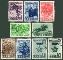 Russia 824-831,831A,CTO.Michel 793-800,876. Army & Navy Of The USSR,23,1941. - Militaria