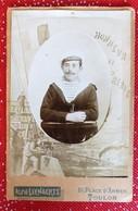 PHOTO Originale Sur Carton MARIN Du Navire MARCEAU Toulon 10 X 14 Cm Militaria - Guerra, Militares
