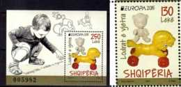 2015 Albania Europa CEPT - Old Toys Set Of MS And 1 V - MNH** MI 3486+ B 191 - 2015