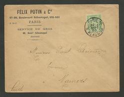 """Enveloppe Commerciale """" FELIX POTIN """" / 5c Sage / Imprimé / PARIS 10.09.1899 >>> MAMERS - 1877-1920: Semi-moderne Periode"""