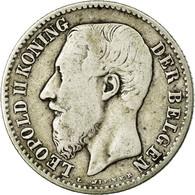 Monnaie, Belgique, Leopold II, Franc, 1887, B+, Argent, KM:29.1 - 07. 1 Franc
