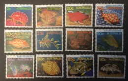 Australia -  MNH** -  1984-1986 - # 902/920 Short Set - 12 Values - Nuovi