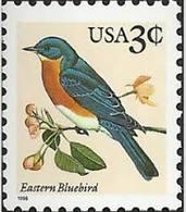 1996 USA Eastern Bluebird Stamp Bird Sc#3033 Post Flower - Post