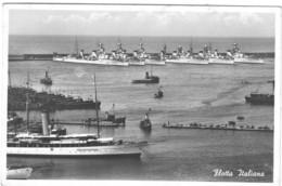 Cartolina Della Flotta Italiana In Porto-viagg.1940 - 1939-45