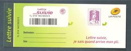 France, Autoadhésif, Adhésif, 1177A, Neuf **, TTB, Non Dentelé, Marianne De Ciappa Et Kawena, Lettre Suivie 20g, Lilas - Adhésifs (autocollants)
