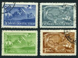 Russia 886-889,CTO.Michel 856-859. Vitus Bering,explorer.Ship.Mount St Elias. - Explorers