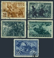 Russia 890-894,CTO.Michel 865-869. WW II Scenes,1943.Medical Corpsmen,Snipers. - WW2