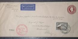 O) 1930 CIRCA-GERMANY, GRAF ZEPPELIN TO SOUTH AMERICA  SC C39 4m-FIRST FLIGHT -GRAF ZEPPELIN CROSSING OCEAN, LUFTSCHIFF - Germany