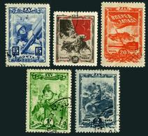Russia 916-920,CTO.Michel 885-889. Young Communist League,Komsomol,25th Ann.1943 - WW2