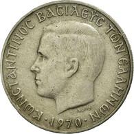 Monnaie, Grèce, Constantine II, 2 Drachmai, 1970, TTB, Copper-nickel, KM:90 - Greece