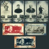 Russia 931-937,CTO.Michel 911-917. 20 Years Without Vladimir Lenin,1944. - Lenin